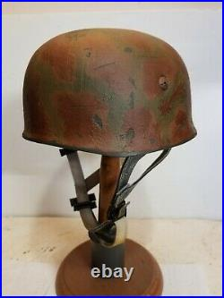 WWII GERMAN M38 Paratrooper Sturm Rgt HELMET WithHand Aged Paint Work and Liner