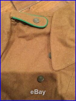 WWII German Afrikamantel Afrika Korps Brown Wool Greatcoat, Repro, Sz 42/44