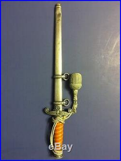 WWII German Army Dagger, Scabbard with Portepee Included