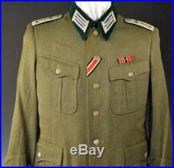 WWII German Army Medical Officers Tunic with Original Ribbons and Award loops