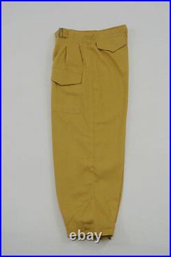 WWII German DAK/Tropical Afrikakorps Luftwaffe sand trousers XL/38