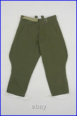 WWII German DAK/Tropical Afrikakorps officer olivebrown breeches XL/38