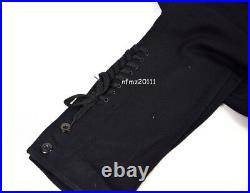 WWII German Elite M32 Officer Black Wool Tunic And Breeches Military Uniform