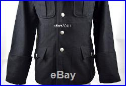 WWII German Elite M32 Officer Black Wool Tunic And Breeches Military Uniform XL
