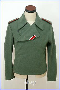 WWII German Elite assault gunner field wool wrap/jacket L