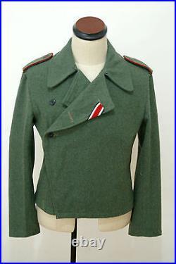 WWII German Heer assault gunner field wool wrap/jacket XL