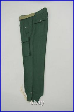 WWII German Heer panzer summer HBT reed green trousers L/36