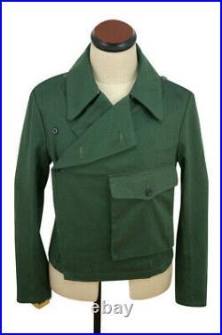 WWII German Heer panzer summer HBT reed green wrap/jacket type II XL