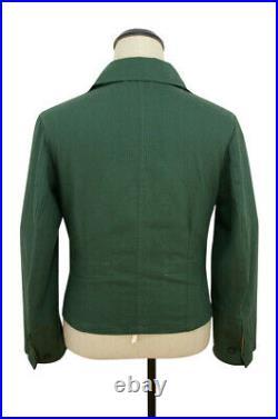WWII German Heer panzer summer HBT reed green wrap/jacket type I L