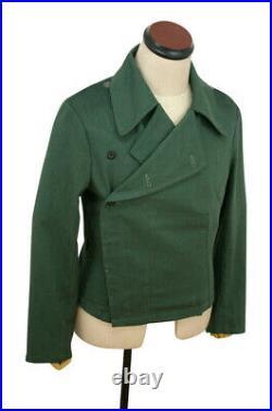 WWII German Heer panzer summer HBT reed green wrap/jacket type I M