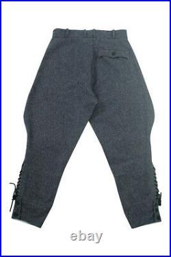 WWII German Luftwaffe officer blue grey wool breeches M/34