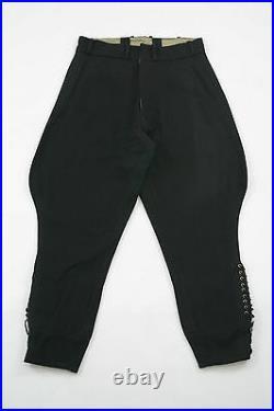 WWII German M32 elite black wool breeches 2XL/40