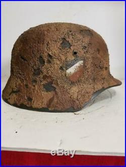 WWII German M35 Afrika Camo Helmet
