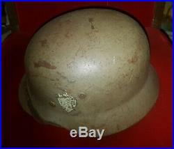 WWII German M35 Helmet Norwegian Re-Issue Quist Size 66