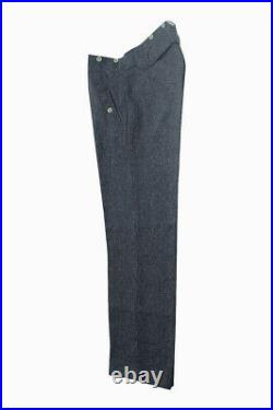 WWII German M35 Luftwaffe blue grey wool trousers L/36