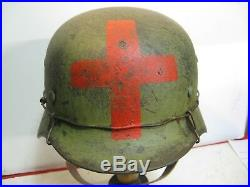 WWII German M35 Medic Helmet