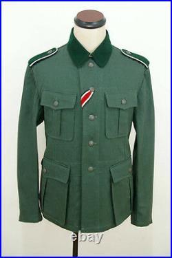 WWII German M36 EM summer HBT reed green field tunic XL