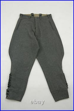 WWII German M36 officer stone grey wool breeches M/34