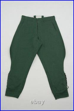 WWII German M36 officer summer HBT reed green breeches S/32