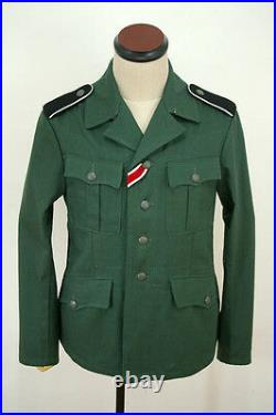 WWII German M37 elite-VT EM summer HBT reed green field tunic XL