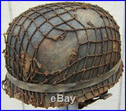 WWII German M38 Fallschirmjäger Paratrooper Helmet ET71 58