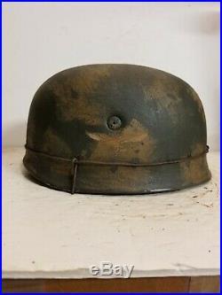 WWII German M38 Fallschirmjager Normandy Paratrooper Helmet
