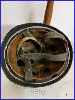 WWII German M38 Fallschirmjager Splinter Half Basket Camo Paratrooper Helmet