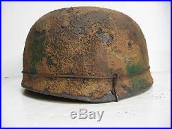 WWII German M38 Fallschirmjager Textured camo Paratrooper Helmet
