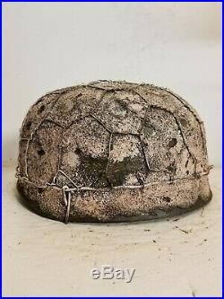 WWII German M38 Fallschirmjager Winter Chickenwire Paratrooper Helmet