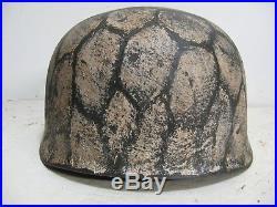 WWII German M38 Fallschirmjager Winter Chickenwire pattern Paratrooper Helmet