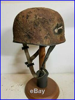WWII German M38 Fallschirmjager paratrooper Afrika Sturm Rgt Helmet