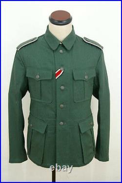 WWII German M40 EM summer HBT reed green field tunic M