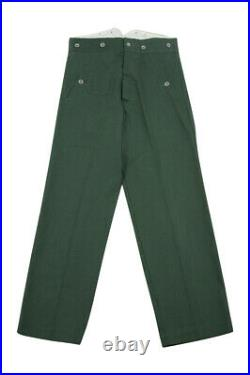 WWII German M40 summer HBT reed green field trousers M/34