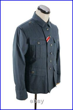 WWII German M41 DAK/Tropical Afrikakorps summer Luftwaffe blue grey tunic S