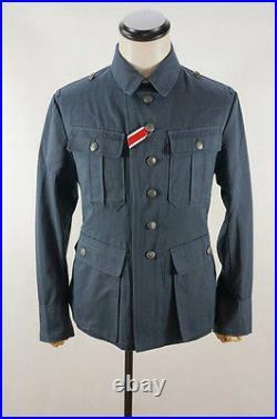 WWII German M41 DAK/Tropical Afrikakorps summer Luftwaffe blue grey tunic XL