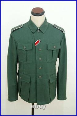 WWII German M41 EM summer HBT reed green field tunic L