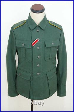 WWII German M41 Summer HBT Luftwaffe reed green tunic XL