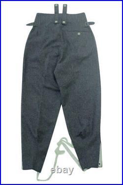 WWII German M43 Luftwaffe blue grey wool trousers keilhosen 3XL/42