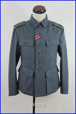 WWII German M43 Luftwaffe blue grey wool tunic L