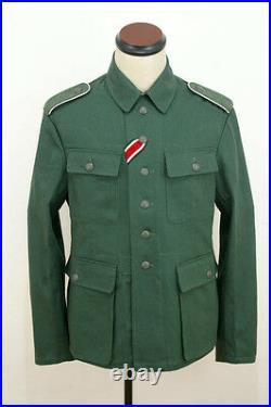 WWII German M43 heer summer HBT reed green field tunic XL