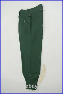 WWII German M43 summer HBT reed green field trousers keilhosen S/32
