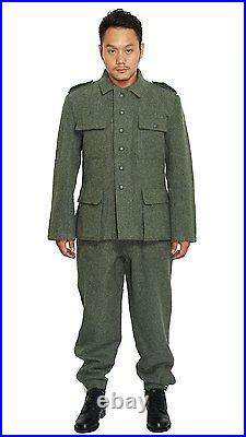 WWII German Military M43 Wh Em Field Wool Uniform Jacket And Trousers XL