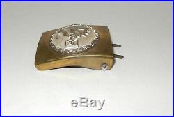 WWII German Nazi NSBO Brass Belt Buckle