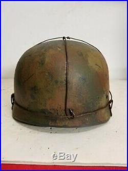 WWII German RARE M37 Fallschirmjager 3 Wire Normandy Paratrooper Helmet