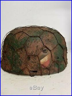WWII German RARE M37 Fallschirmjager Chickenwire, Normandy Paratrooper Helmet