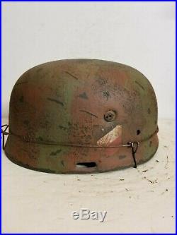 WWII German RARE M37 Fallschirmjager Normandy SturmRegiment Paratrooper Helmet