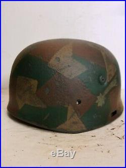 WWII German RARE M37 Fallschirmjager Sturm Rgt Splinter Paratrooper Helmet