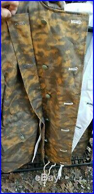 WWII German Reproduction Blurred Edge Oak White Reversible Parka Coat Hoodie