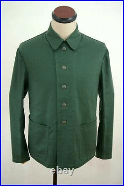 WWII German Summer HBT reed green Drill service tunic M