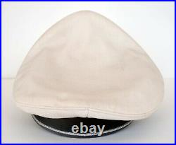 WWII German Summer Visor Cap Reproduction size 7 withpiping & embroidered insignia